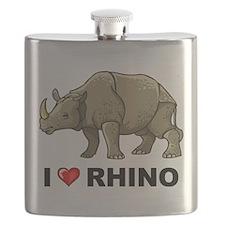 I Love Rhino Flask