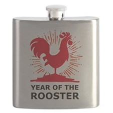 Year Of The Rooster Flask