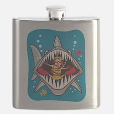 Funny Shark Attack Flask