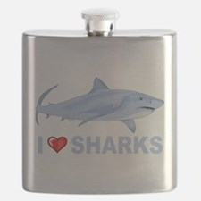 I Love Sharks Flask