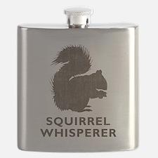 Vintage Squirrel Whisperer Flask
