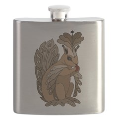 Stylized Squirrel Flask