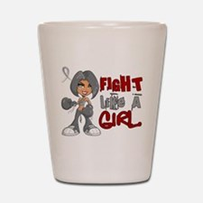 Licensed Fight Like a Girl 42.8 Brain C Shot Glass