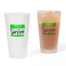 NH Lymphoma Survivor 24 Drinking Glass
