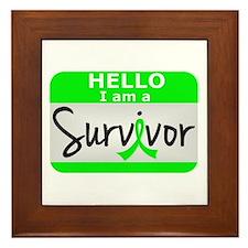 NH Lymphoma Survivor 24 Framed Tile