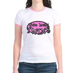 We're having TWINS-pink Jr. Ringer T-Shirt