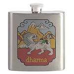Snow Lion + Dharma Flask