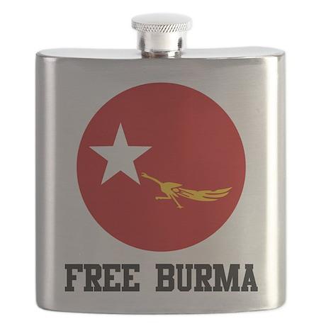 Free Burma Flask
