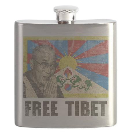 Dalai Lama Free Tibet Flask
