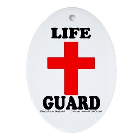 Ur Life Guard Oval Ornament