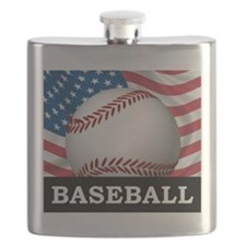 American Baseball Flask