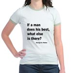 Man Does His Best Jr. Ringer T-Shirt