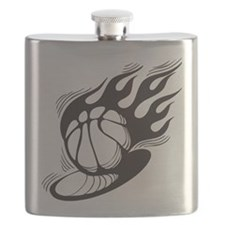 Flaming Basketball Flask