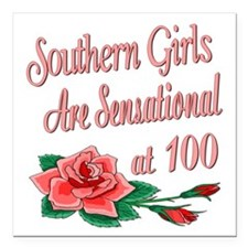 """SouthernGirls100.png Square Car Magnet 3"""" x 3"""""""