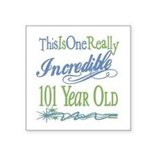 "IncredibleGreen101.png Square Sticker 3"" x 3"""