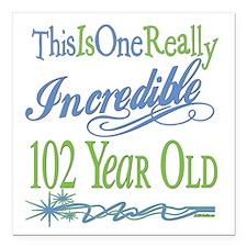 """IncredibleGreen102.png Square Car Magnet 3"""" x 3"""""""