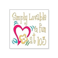 "Lovable103.png Square Sticker 3"" x 3"""