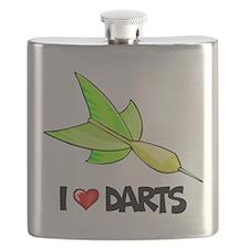 I Love Darts Flask