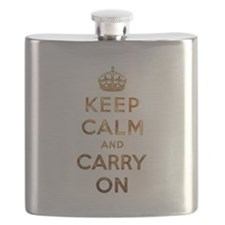 Keep Calm And Carry On Flask