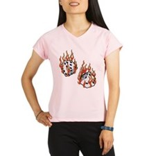 Flaming Dice Performance Dry T-Shirt