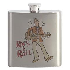 Rock & Roll Guitarist Flask