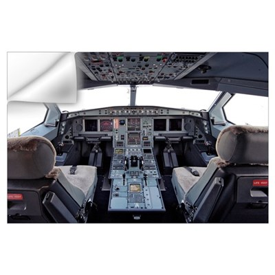 Airbus A330 cockpit Wall Decal
