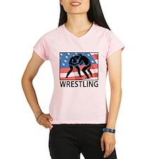 Wrestling In America Performance Dry T-Shirt