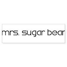Mrs. Sugar Bear Bumper Bumper Sticker