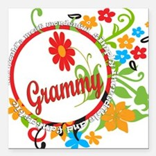 "Fantastic Grammy.png Square Car Magnet 3"" x 3"""