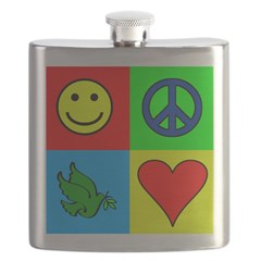 Colorful Peace Flask