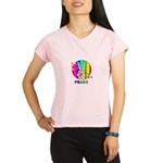 Colorful Peace Symbol Performance Dry T-Shirt
