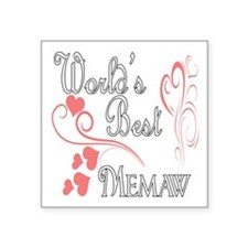 "Hearts Memaw copy.png Square Sticker 3"" x 3"""