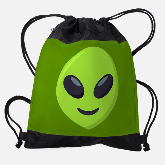 Alien Emoji Drawstring Bag