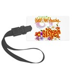 Amazing sister copy.png Large Luggage Tag