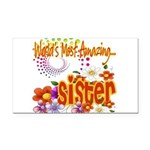 Amazing sister copy.png Rectangle Car Magnet