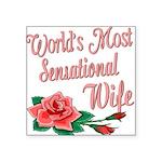 SensationalWife.png Square Sticker 3
