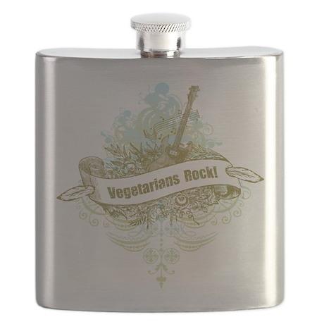 Vegetarians Rock Flask