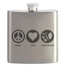 Peace Love Vegetarian Flask