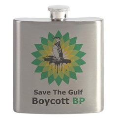Save The Gulf Boycott BP Flask