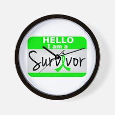 Lymphoma Survivor 24 Wall Clock