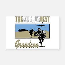 Best Military Grandson copy.png Rectangle Car Magn