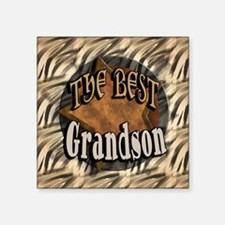 "Best Grandson Square Sticker 3"" x 3"""