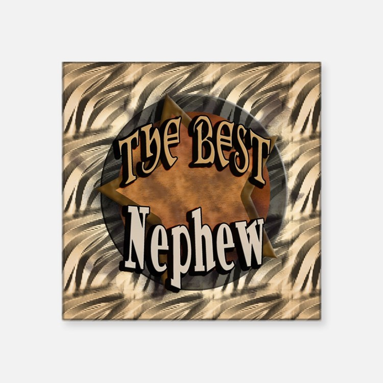 "Best Nephew Square Sticker 3"" x 3"""