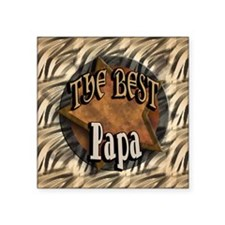 "Best Papa Square Sticker 3"" x 3"""