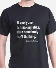 Somebody Isn't Thinking (Front) Black T-Shirt