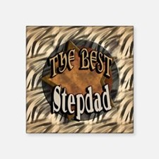 "Best Stepdad Square Sticker 3"" x 3"""