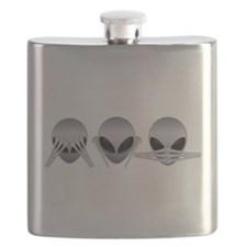 See No Evil Alien Flask