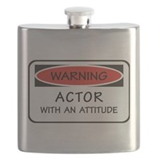 Actor With An Attitude Flask