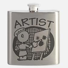 Retro Artist Flask