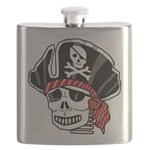 Skeleton Pirate Flask